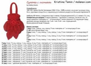 Вязаные сумки спицами описание