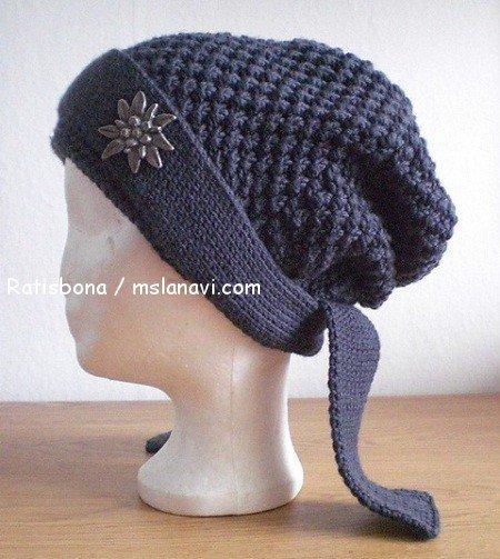 вязаная шапка-бандана