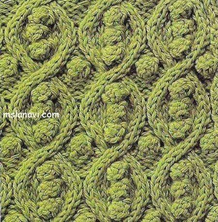 Рельефный узор спицами - фигурные ромбы с шишечками внутри и снаружи. сделают ваше вязаное изделие необычайно...