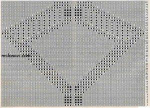 рельефный ромб спицами схема 39