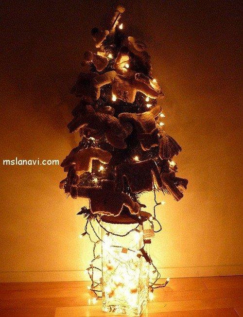 вязаные украшения для  елки