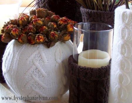 вязаные чехлы для цветочных горшочков 2