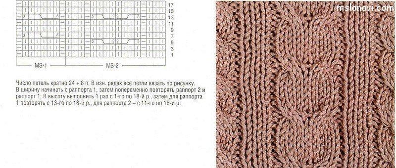 Разновидность вязания кос со схемами 48