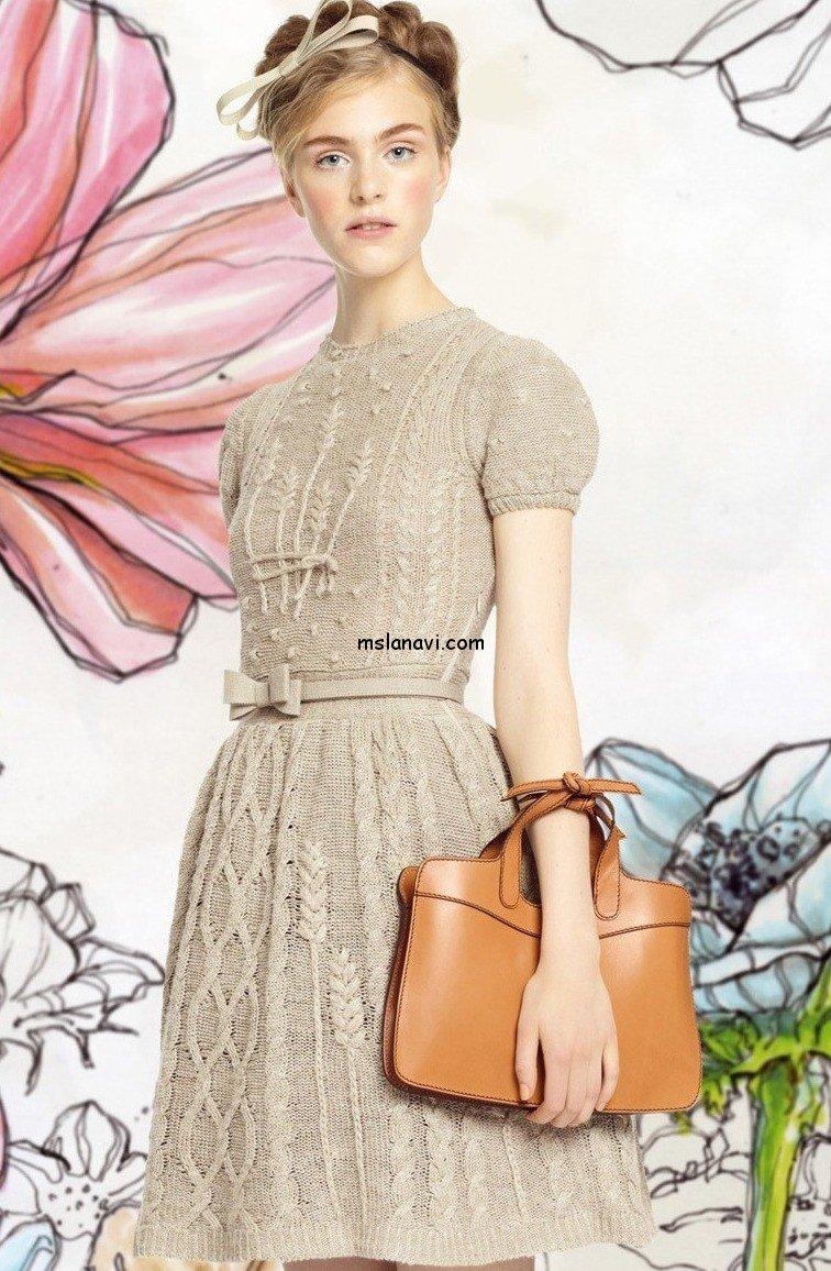 вязаное платье шанель схема