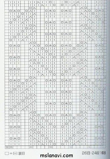 Ажурный узор спицами №68