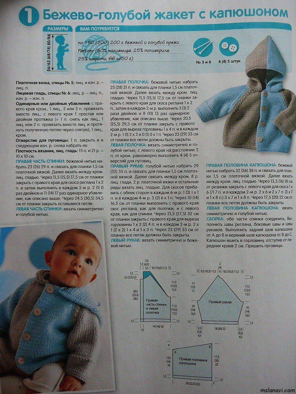 Как связать жакет для малыша
