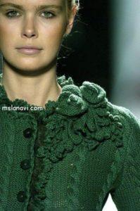 Красивый вязаный жакет от Oscar de la Renta