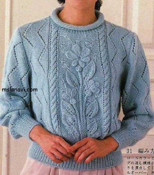 пуловеры с цветами