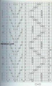 рельефный узор спицами схема 57