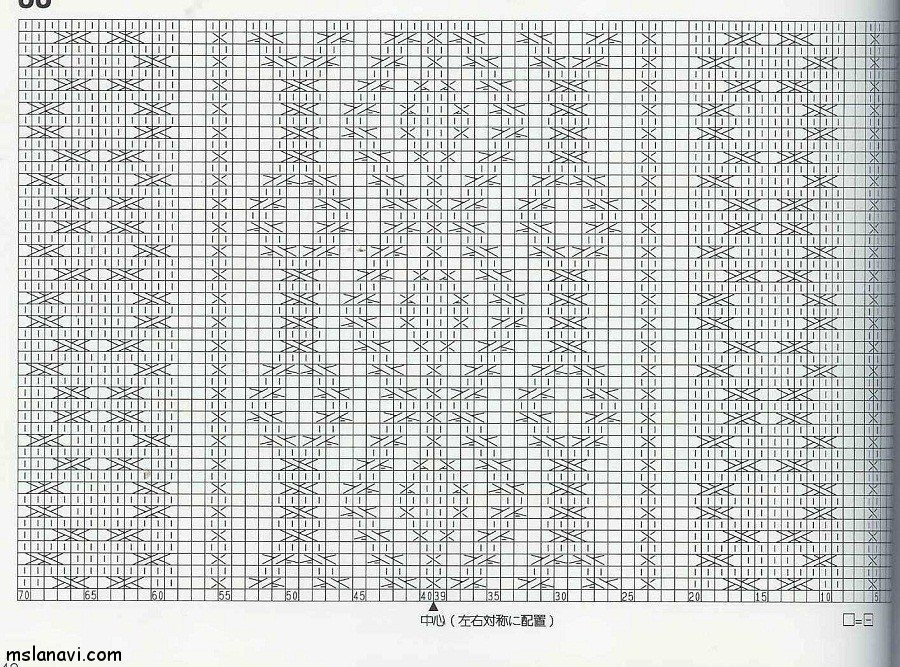 узор спицами схема 59