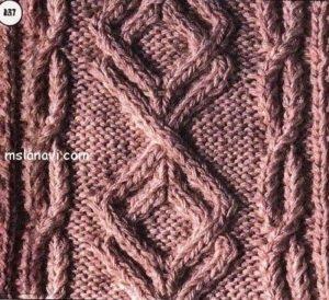сложные араны спицами