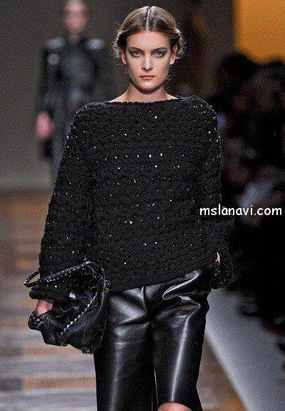 связать стильный свитер 2