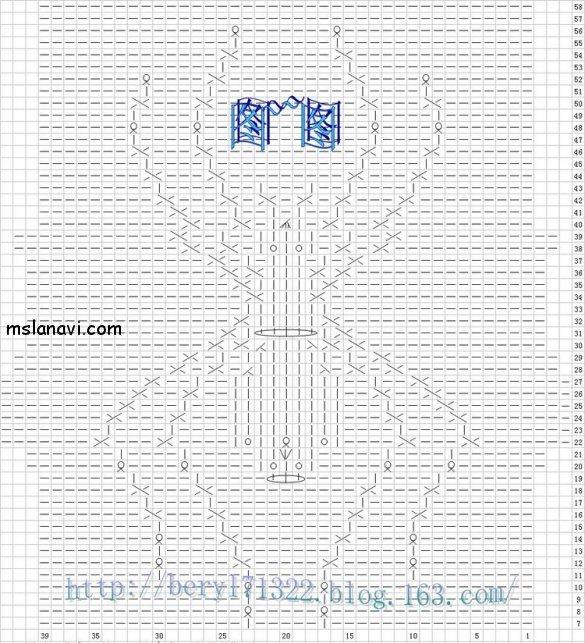 Схема на спицах паучок