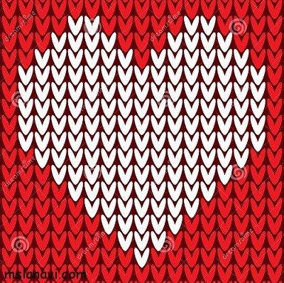 Узоры на свитер сердечки
