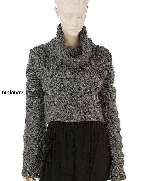 Женские пуловеры с листьями 3