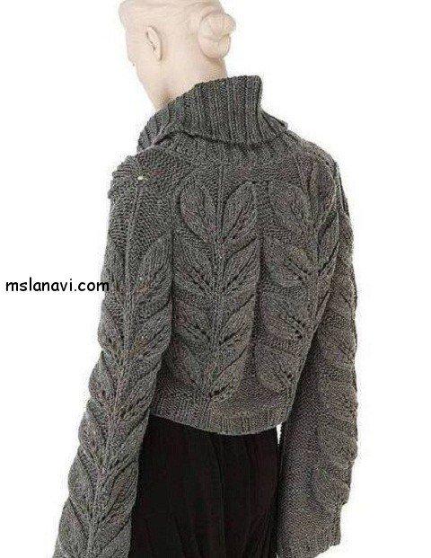 Женские пуловеры с листьями