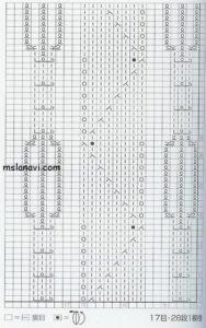 ажурный узор спицами схема 74