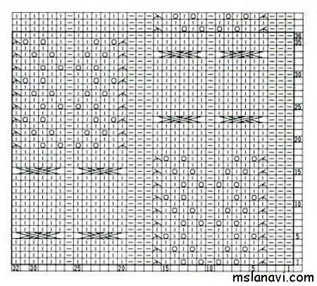 вязание узоры схемы 63