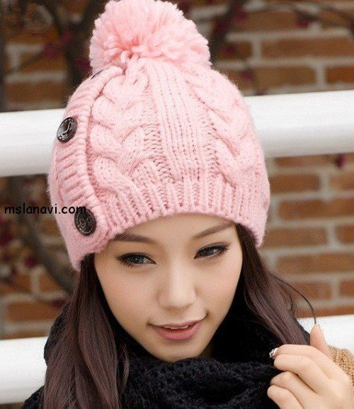 какие вязаные шапки в моде вяжем с лана ви