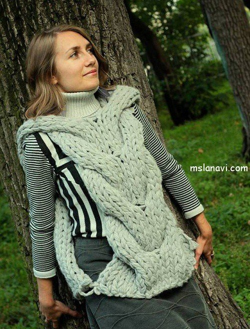 Вязание спицами модели осень