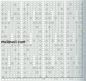 ажурный узор спицами схема 90
