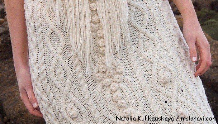 вязаное платье спицами Natalia Kulikouskaya 2