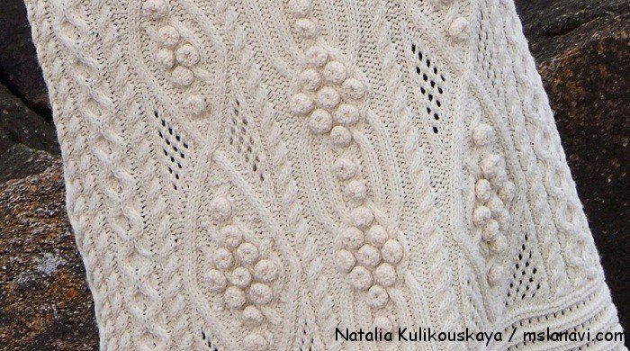 вязаное платье спицами Natalia Kulikouskaya 3