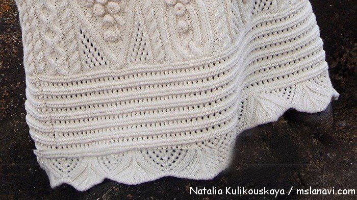 вязаное платье спицами Natalia Kulikouskaya 4
