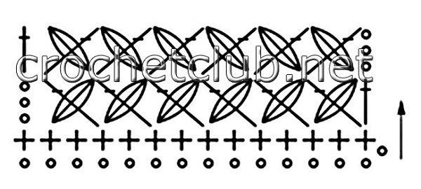 вязаные повязки схема
