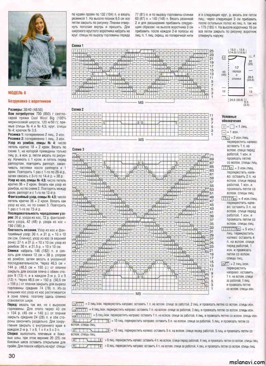 Свитер спицами 133 схемы   knitkaru