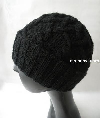 мужская вязаная шапка со схемами