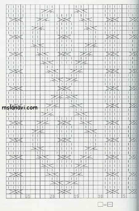 узор ромбы и жгуты схема