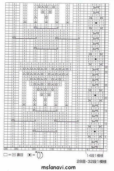 вязание узоры схемы 70