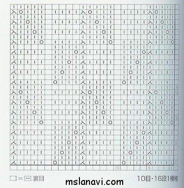 вязание узор  схема 73