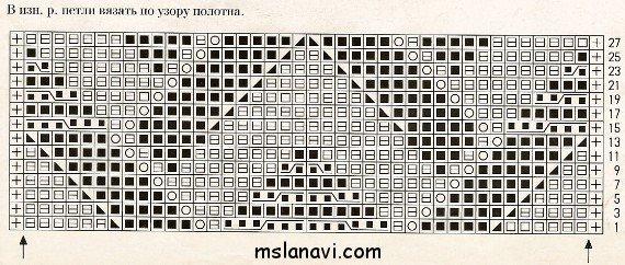 Рельефный узор спицами №75