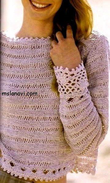 Воздушный летний пуловер