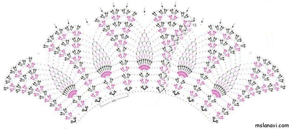Туника связанная спицами схема