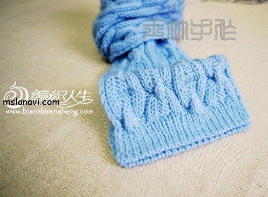 Вязаный шарф спицами со схемой
