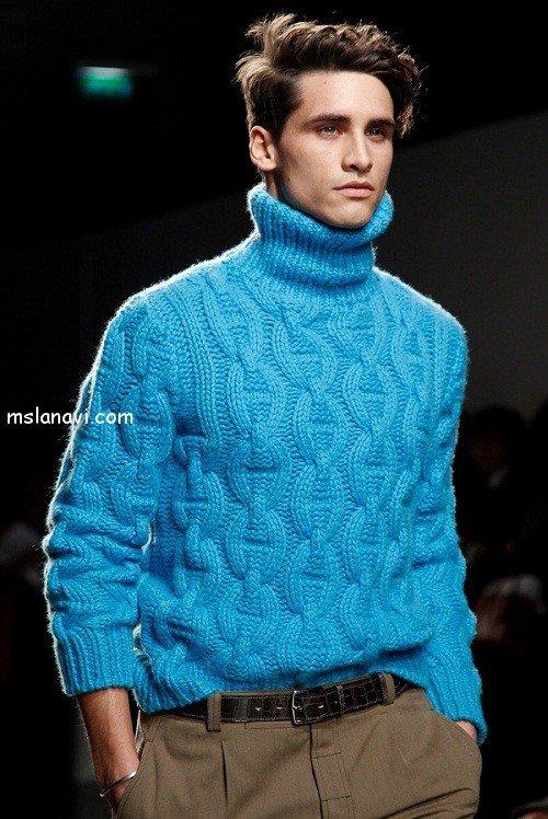 мужской вязаный пуловер от Hermes
