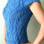 Вязаный пуловер спицами от Elissiya