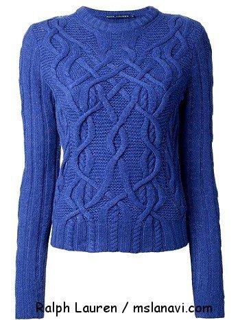Вязаный пуловер спицами Ralph Lauren