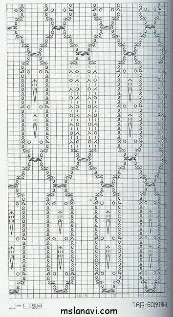 узор спицами №93