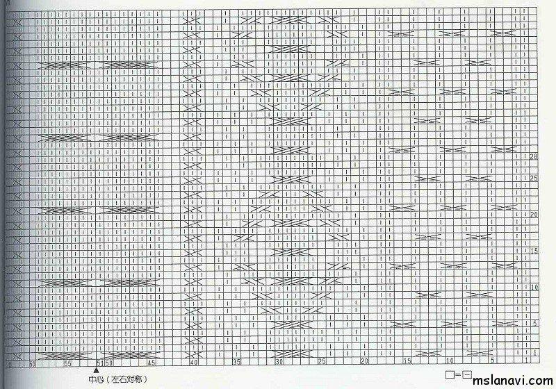 Рельефный узор спицами №95