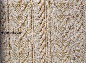 Рельефный узор спицами 97