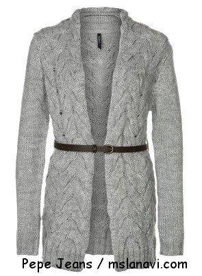 вязаные пальто +и кардиганы спицами Pepe Jeans 110