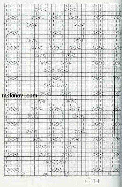 рельфный узор спицами схема 82