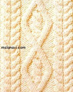 Рельефный узор спицами №82