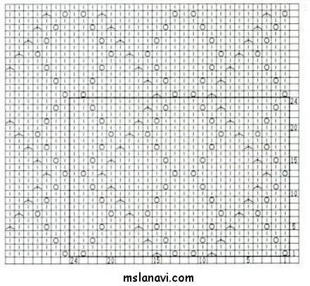 Ажурный узор спицами №142