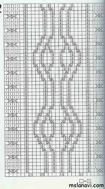 узор спицами №99