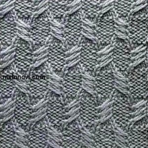 Рельефный узор спицами №104